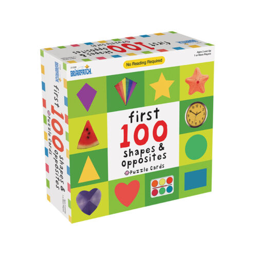 First 100 Shapes & Opposites Puzzle Card Kids/Toddler Educational/Learning Game