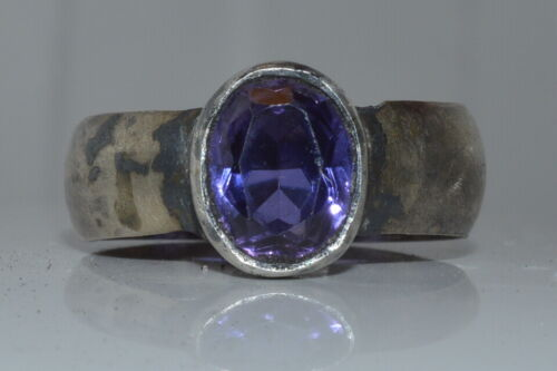 ANTIQUE IMPERIAL RUSSIAN 19th ! SILVER 84 Ring stone Victorian rare size 10