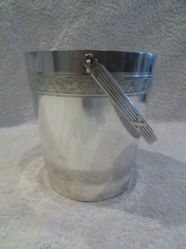 Early 20th c french silver-plated ice cube bucket Gallia Christofle Louis XVI st