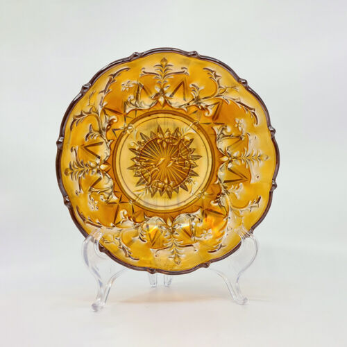 Rare Australian Trailing Flowers Carnival Glass Serving Bowl, Crown Crystal