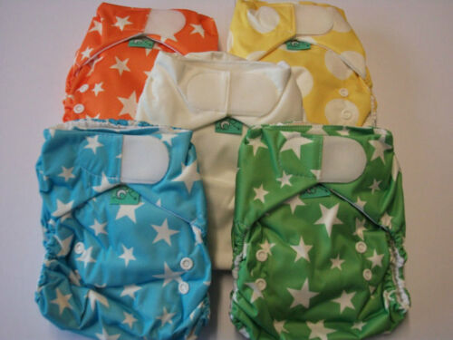 TotsBots, Easyfit Bamboo Reusable Nappy, Rainbow, 5 Pack
