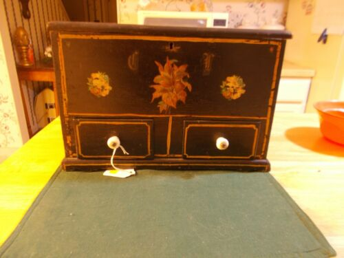 DATED 1897 BY SAM LEHNHART TO HIS SISTER SEWING BOX WITH ORIGINAL PAINT SPOOL HO