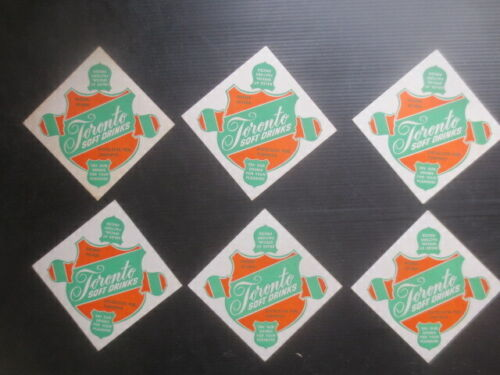 """6 the same TORONTO SOFT DRINKS 1970,s Issued Coasters """" NO MORE ,GONE """""""
