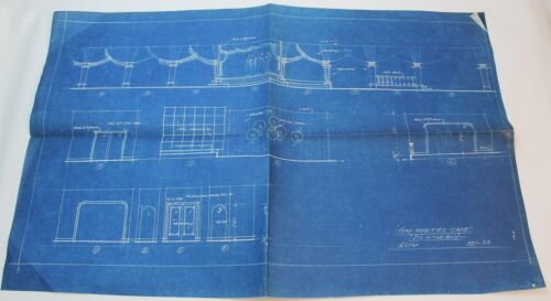 IT'S IN THE BAG! / 1944 Movie Set Design Concept Blueprint, Gay Nineties Cafe