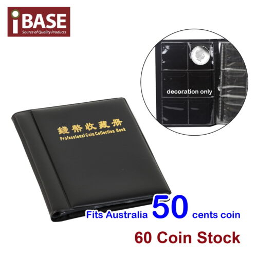 Coin Album Holder Storage Collection Collecting Stock Pocket Book 60 Large Slots