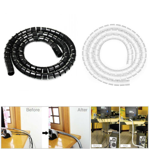 10mm Wire Cable Tidy Tube Cable Management Sleeves Winding Wrap Organizer Kit 2M