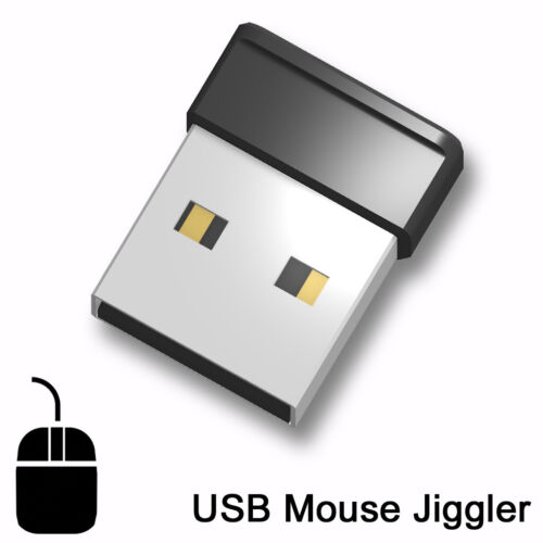 USB Mouse Jiggler - mouse mover prevents screen-saver sleep standby. New design!
