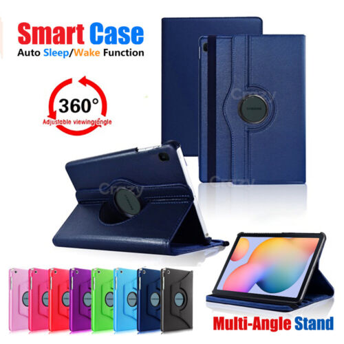 360 Rotate Smart Stand Flip Case Cover For Samsung Galaxy Tab S6 Lite P610 /P615