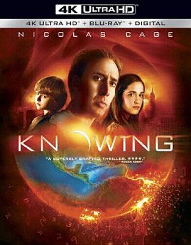 Knowing 4K Ultra HD 4K - DVD - Free Shipping. - New