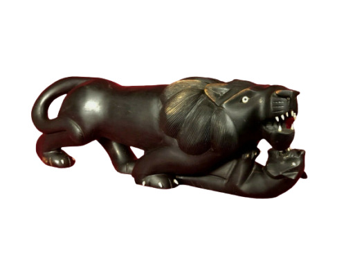 Ebony Tiger Sculpture