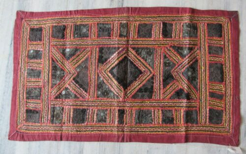 Old patchwork tapestry handmade wall decor embroidered hanging home decorative
