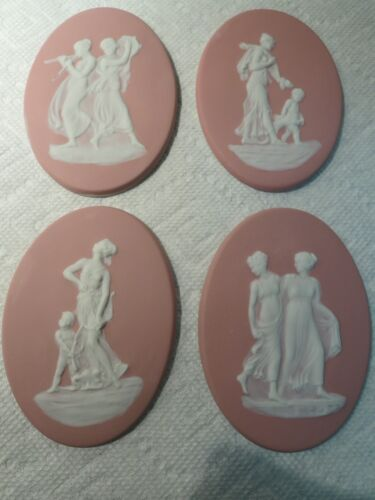 4  VINTAGE FRENCH LIMOGES PORCELAIN BISQUE/WEDGWOOD CHERUB/DIETY