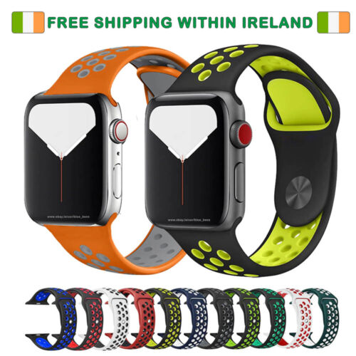 Nike Style Strap Band for Apple Watch SERIES 1, 2,3,4 AND 5 <br/> ✔ IRISH STOCK ✔ FREE SHIPPING ✔ SHIPS FROM IRELAND
