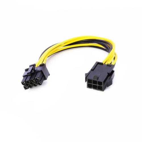 PCI Express Power Converter Cable 6-pin to 8-pin  for GPU Video Card PCIE