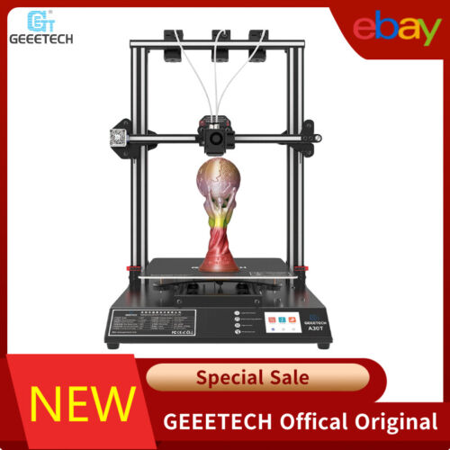 US Geeetech A30T Large 3D Printer 3in1 out Extruder for Filament 3D Sensor Level