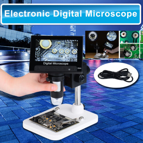 """4.3"""" 1000X LCD Monitor Electronic Digital Video Microscope 8 White LED MagnifierMicroscopes - 185223"""