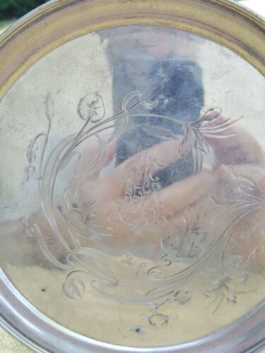 Russian antique  silver tray.