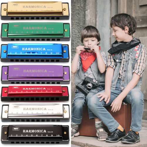 10 24 Hole Harmonica Kid Mouth Organ Puzzle Musical Instrument Beginner Key of C