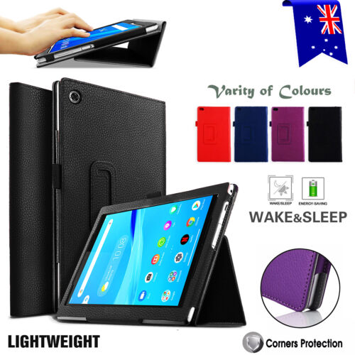 For Lenovo Tab M8 M7 Folding Stand PU Leather Business Heavy Duty Case Cover