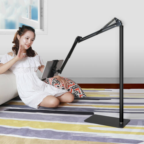 Hands Free Floor Stand Adjustable Bed Clip Holder For Tablet iPad iPhone Switch