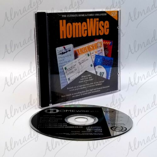 HomeWise PC CD-ROM Home and Family Organizer FREE SHIPPING Australian Seller