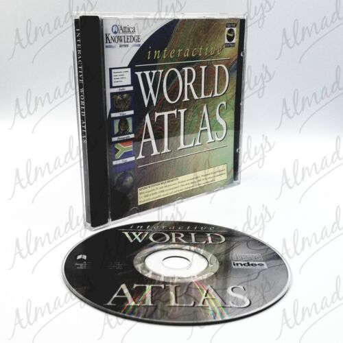 Attica Interactive World Atlas PC CD-ROM 1996 FREE SHIPPING Australian Seller