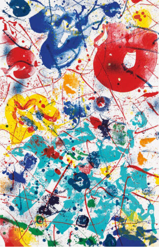 SAM FRANCIS 'UNTITLED' (SF-358) 1993, LITHOGRAPH, SIGNED & NUMBERED, LARGE, MINT