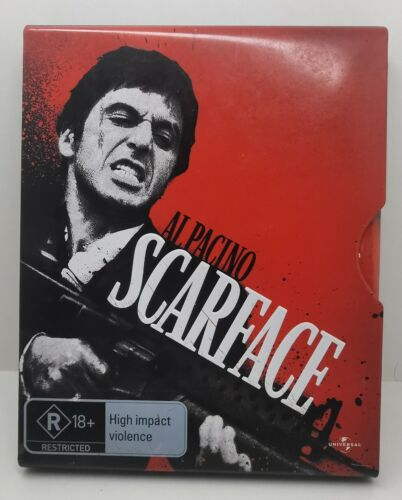 Scarface Limited Edition Tin Slipcase Blu-Ray DVD, FREE POST