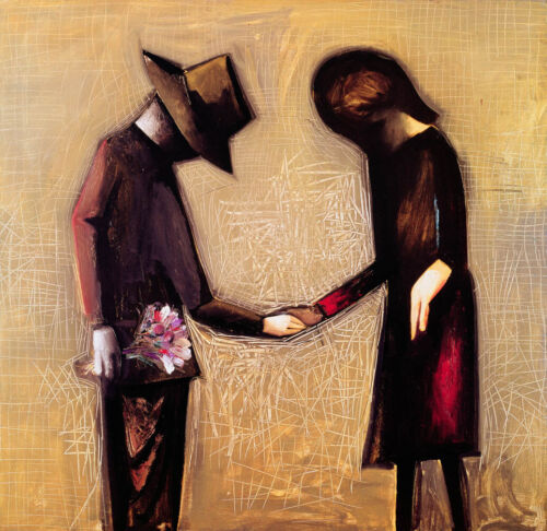 Charles BLACKMAN The Meeting (Framed) - Collectible Signed Modernist Print + LOP