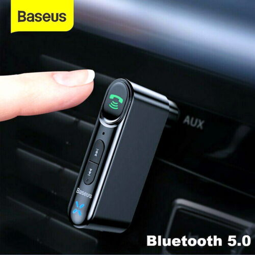 Baseus Car Receiver Bluetooth 5.0 Wireless Audio Stereo Music AUX Adapter Mic
