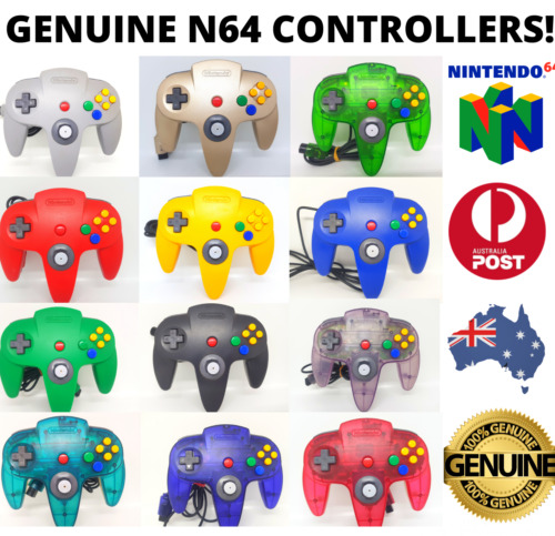 Genuine Nintendo 64 N64 Controller Awesome Joysticks! FREE POST! 🇦🇺 Official🎮