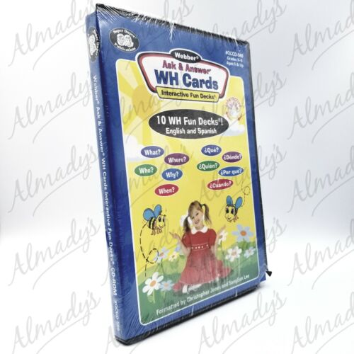 Webber Ask & Answer WH Cards Kids Educational CD-ROM FREE SHIPPING Aussie Seller