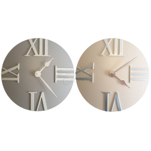 New 30cm Modern Wall Clock Kitchen Contemporary Living Room Grey Cream Home Gift
