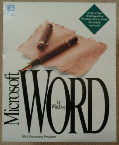 Microsoft Word Complete Package 2.0 1991 Windows Retro Vintage Great Condition