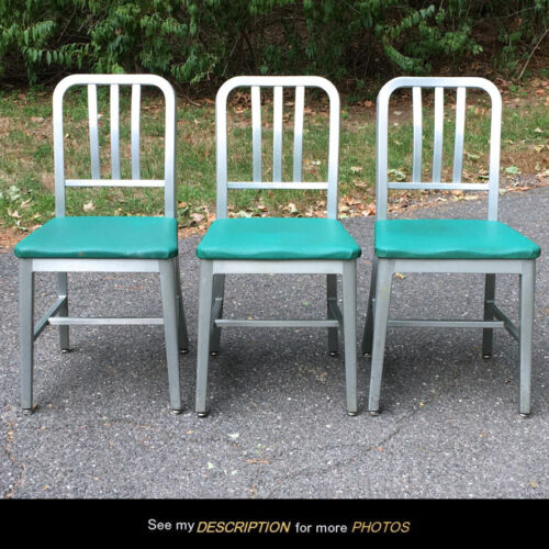 3 MCM Good Form Aluminum CHAIRS goodform General Fireproofing Co emeco era
