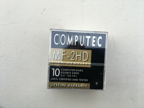 """COMPUTEC  MF-2HD 3.5"""" Floppy Disk 1.44MB Sealed MADE IN JAPAN FREE POST"""