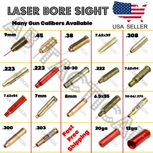 Laser Bore Sight BoreSighter Gun Cartridge Many Calibers Available!Lights & Lasers - 106974