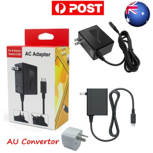 AU Dual Voltage AC Power Type C Adapter Charger for Nintendo Switch NS Gamepad