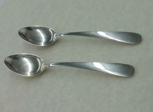 Lot of 2 S Kirk & Son Sterling Teaspoon Old Maryland Plain No Monos