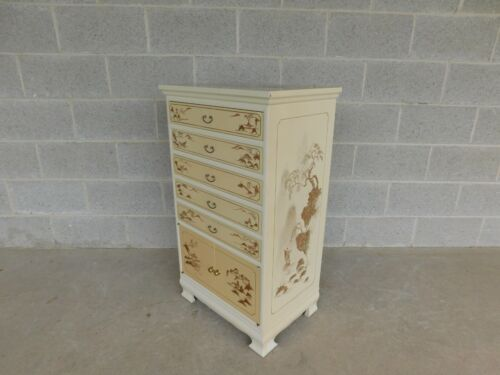 Lacquer Finish Chinoiserie Decorated Silver Chest