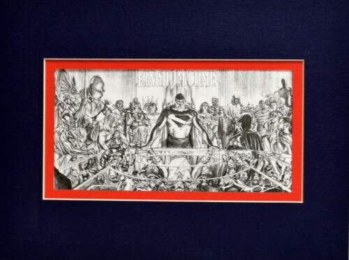 KINGDOM COME MEMBERS MEETING PRINT PROFESSIONALLY MATTED Alex Ross