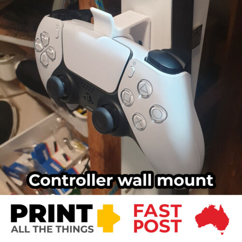 PS5 PlayStation 5 DualSense Controller Wall Mount (Black or White)