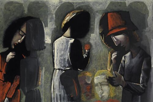 Charles BLACKMAN Dreaming in the Street-Big archival print, Signed, FRAMED + COA