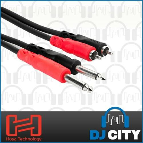 Hosa CPR-203 Dual Cable 1/4 Inch TS - RCA - 10ft / 3m