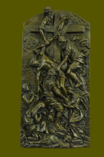 Descent from the Cross. Detail of the main bronze door of the Milan Cathedral