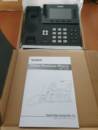 Yealink SIP-T54W VoIP Phone BRAND NEW Wi-Fi/Bluetooth 16 lines HD colour screen
