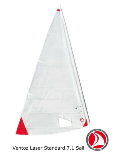 Ventoz Laser Standard Sail (7,1 m2) - Red Patches