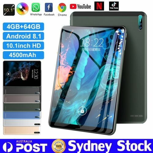 "10.1"" Inch Tablet PC HD Android 8.1 4+64GB WIFI Three Camera GPS Bluetooth Gift"