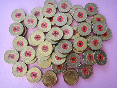 Australia 2018 $2 Dollar REMEMBRANCE DAY ARMISTICE RED POPPY  1x Coin Circulated