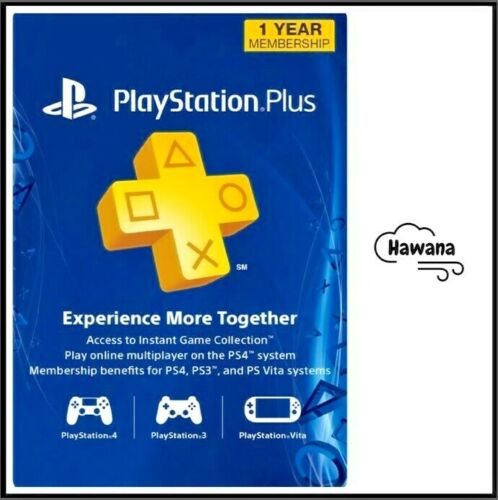 Sony PlayStation Plus PS 12 Month / 1 Year / 365 Day Membership Subscription <br/> 24/7 Support / 100% Satisfaction / Trusted by Thousands